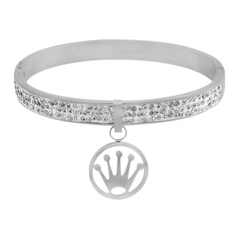 Rolex Style Girls Bracelet, Silver, NS-0179