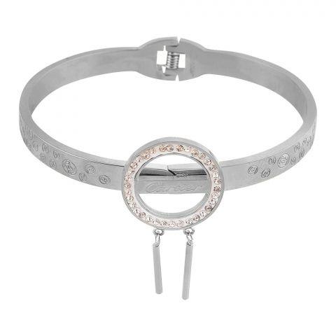 Cartier Style Girls Bracelet, Silver, NS-0180