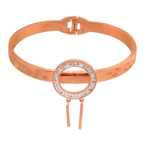Cartier Style Girls Bracelet, Rose Gold, NS-0180