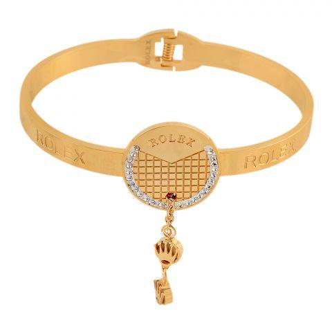 Rolex Style Girls Bracelet, Golden, NS-0181