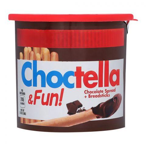 Choctella & Fun! Chocolate Spread & Breadsticks, 50g