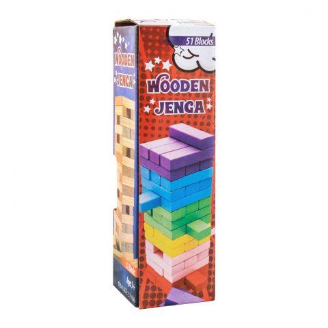 Live Long Wooden Jenga, 51 Blocks, 2305-19-D