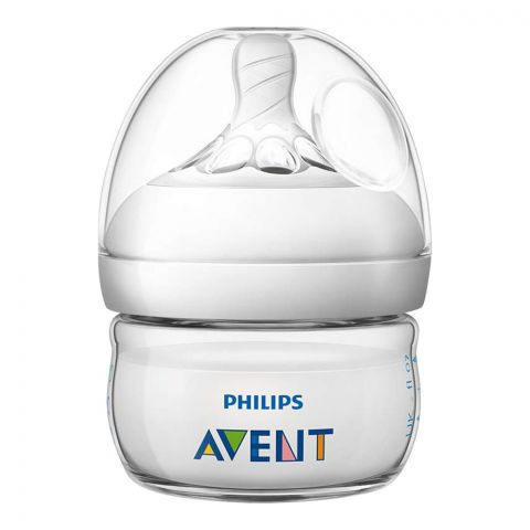 Avent Natural Feeding Bottle, 0m+, 60ml/2oz, SCF039/17