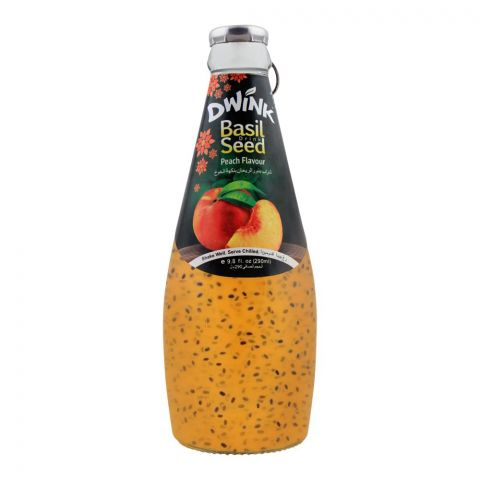 Dwink Basil Seed Drink Peach Flavor, 290ml