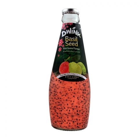Dwink Basil Seed Drink Pink Guava Flavor, 290ml
