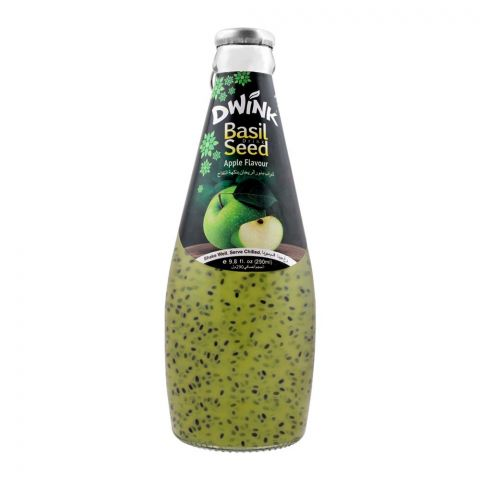 Dwink Basil Seed Drink Apple Flavor, 290ml