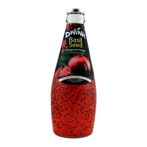 Dwink Basil Seed Drink Pomegranate Flavor, 290ml