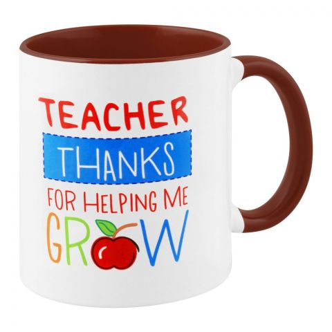 Teacher Thanks For Helping Me Grow Gift Mug