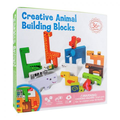 Live Long Wooden Creative Animal Building Blocks, 2305-9-D