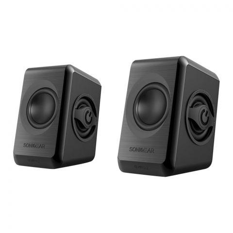 SonicEar Quatro 2 2.0 USB Speaker, Cool Grey