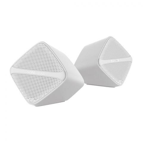 SonicEar Sonic Cube USB Speakers, White
