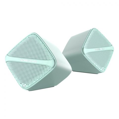 SonicEar Sonic Cube USB Speakers, Mint