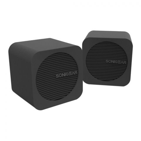 SonicEar Blue Cube USB/Bluetooth Speakers, Black
