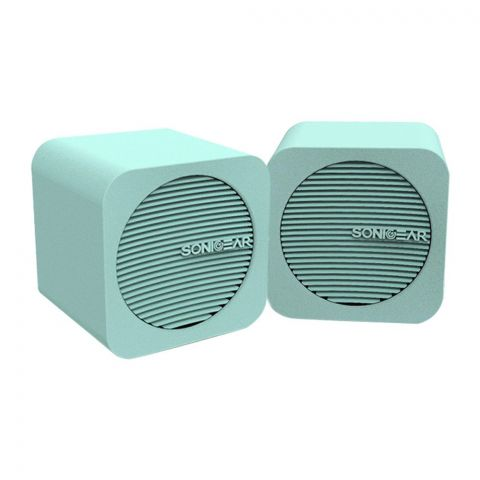 SonicEar Blue Cube USB/Bluetooth Speakers, Mint