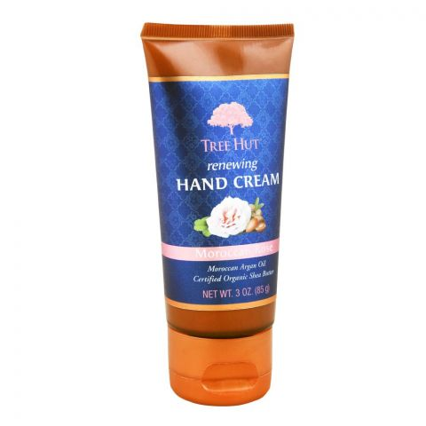 Tree Hut Moroccan Rose Renewing Hand Cream, 85g