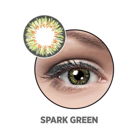 Optiano Soft Color Contact Lenses, Spark Green