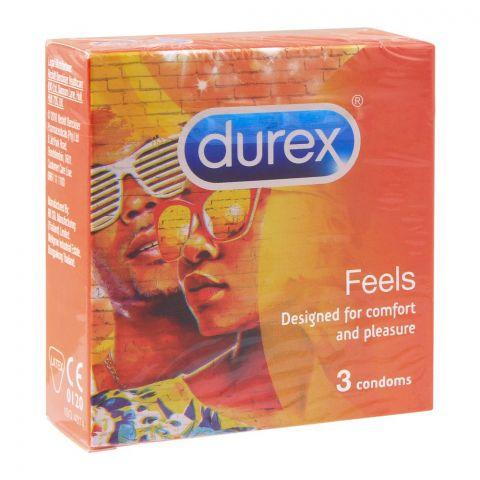 Durex Feels Latex Condom, 3-Pack