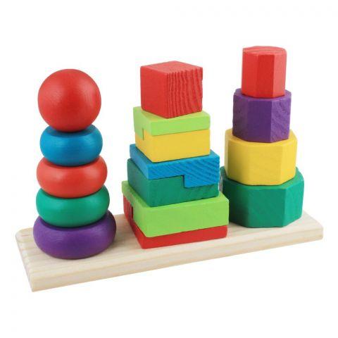 Live Long Wooden 3 Column Tower, 2305-20-D