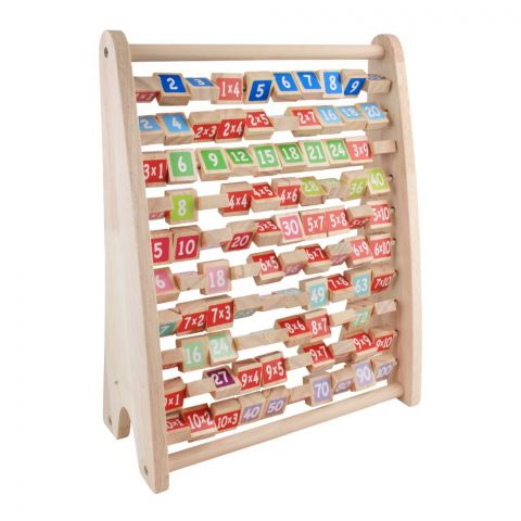 Live Long Wooden Multiplication Learning Frame, 2305-28-D