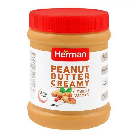 Herman Peanut Butter, Creamy, 340g