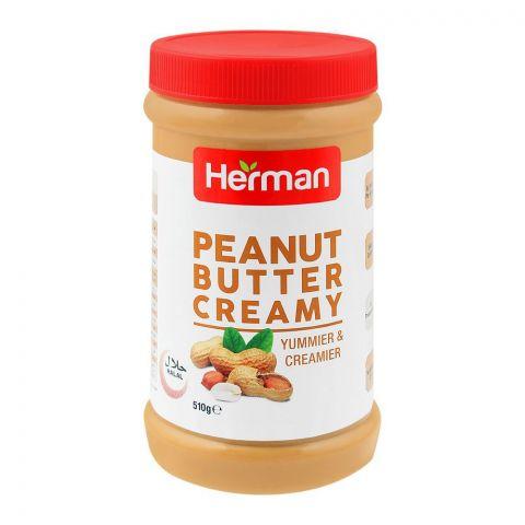 Herman Peanut Butter, Creamy, 510g