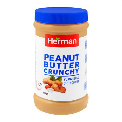 Herman Peanut Butter, Crunchy, 510g