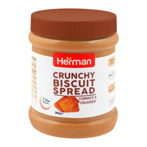 Herman Crunchy Biscuit Spread, 380g