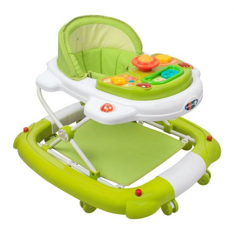 Infantes 2-In-1 Baby Walker Rocker, Green, Taiwan, 1078