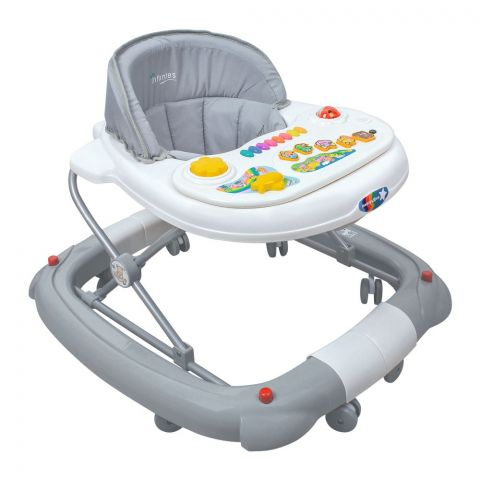 Infantes 2-In-1 Baby Walker Rocker, Grey, Taiwan, 1079