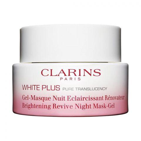 Clarins Paris White Plus Brightening Revive Night Mask-Gel, 50ml