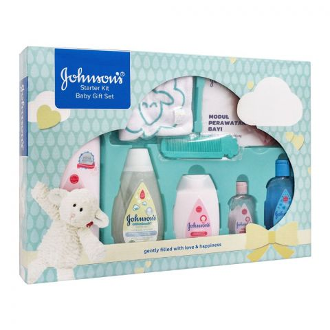 Johnson's Starter Kit Baby Gift Set, 8 Pieces