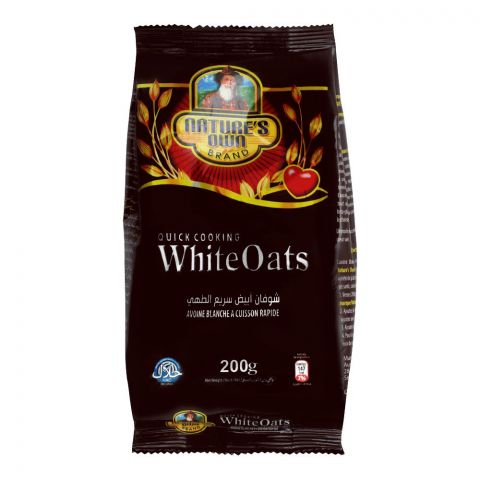 Nature's Own Quick Cooking White Oats, Pouch, 200g