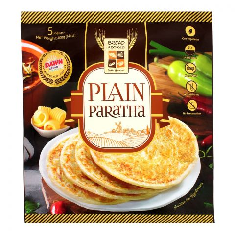 Bread & Beyond Plain Paratha, 5 Pieces, 400g