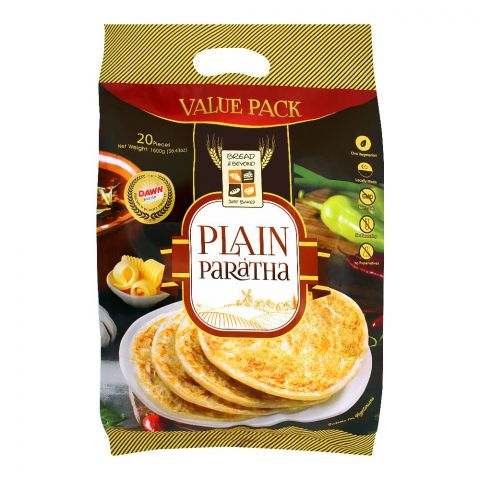 Bread & Beyond Plain Paratha, 20 Pieces, 1600g