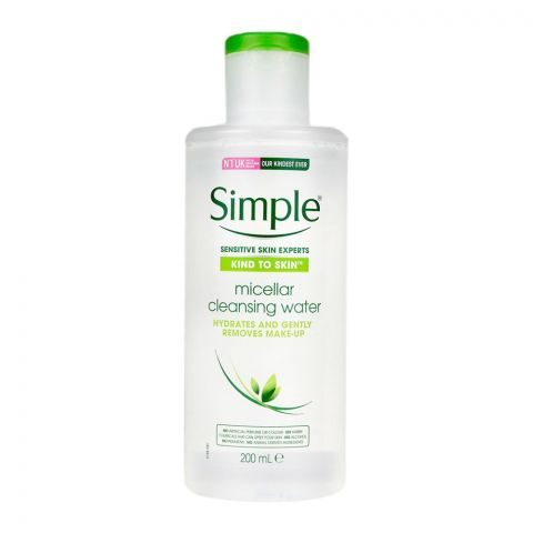 Simple Kind To Skin Micellar Cleansing Water, Alcohol + Paraben Free, 200ml