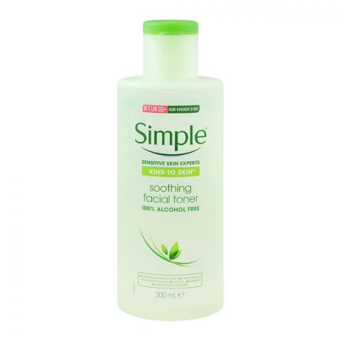 Simple Kind To Skin Soothing Facial Toner, Alcohol + Paraben Free, 200ml