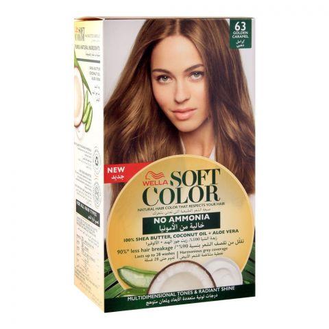 Wella Soft Color No Ammonia Hair Color, 63 Golden Caramel