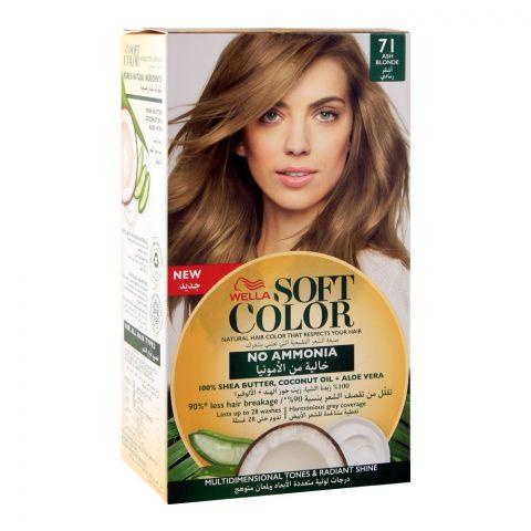 Wella Soft Color No Ammonia Hair Color, 71 Ash Blonde