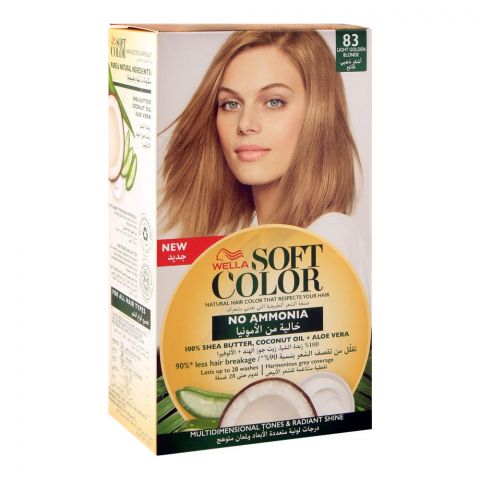 Wella Soft Color No Ammonia Hair Color, 83 Light Golden Blonde
