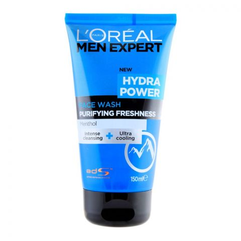 Loreal Paris Men Expert Hydra Power Purifying Freshness Face Wash, Menthol, 150ml