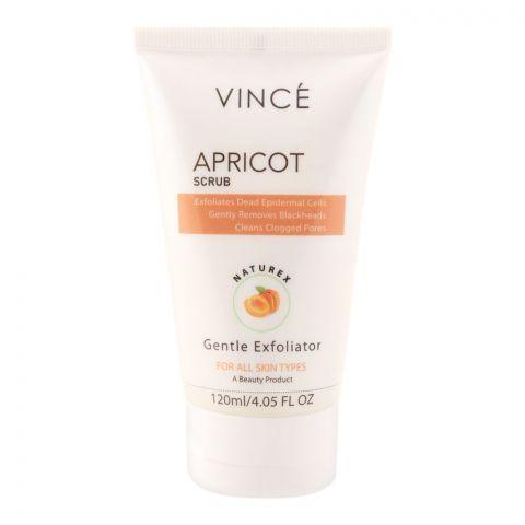 Vince Gentle Exfoliator Naturex Apricot Scrub, All Skin Types, Paraben Free, 120ml