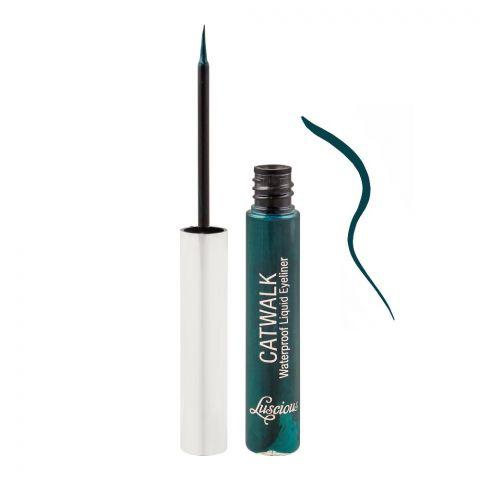 Luscious Cosmetics Catwalk Waterproof Liquid Eyeliner, 06 Green