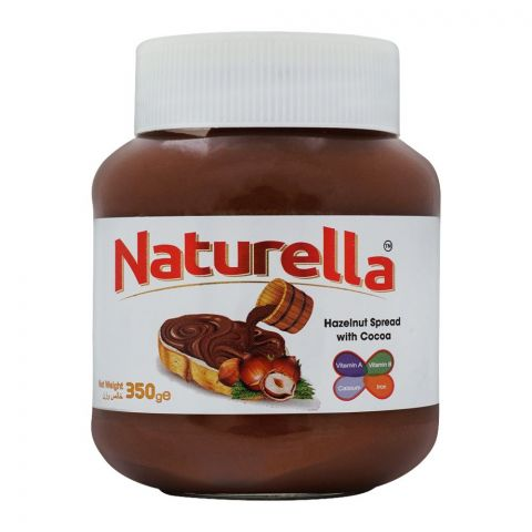 Naturella Hazelnut Spread With Cocoa, 350g