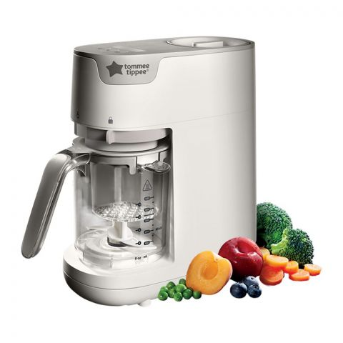 Tommee Tippee Quick-Cook Baby Food Maker, Steams And Blends, 423225/38