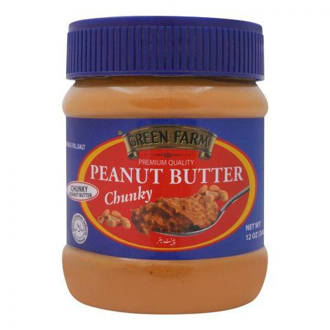Green Farm Peanut Butter, Chunky, 340g