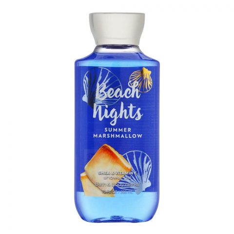 Bath & Body Works Beach Nights Summer Marshmallow Shea & Vitamin E Shower Gel, 295ml