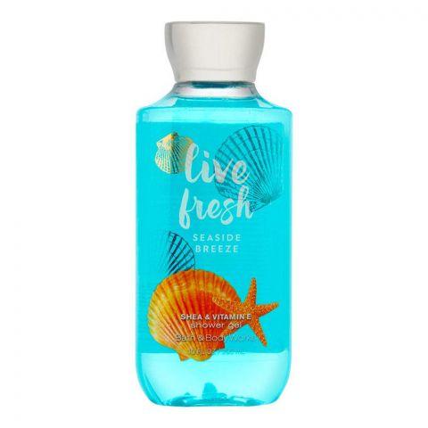 Bath & Body Works Live Fresh Seaside Breeze Shea & Vitamin E Shower Gel, 295ml