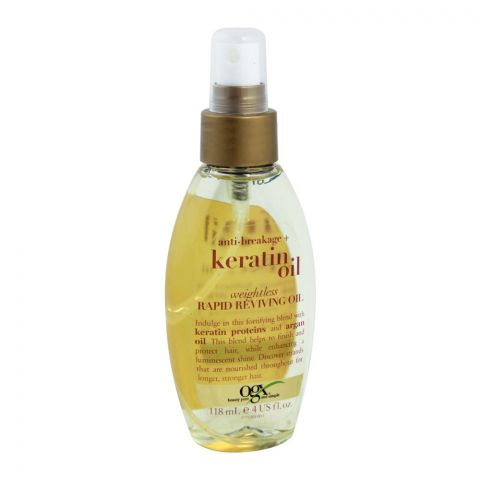 OGX Anti-Breakage + Keratin Oil Weightless Rapid Reviving Oil, 118ml