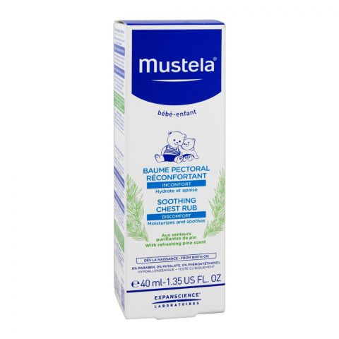 Mustela Soothing Chest Rub, Paraben Free, 40ml