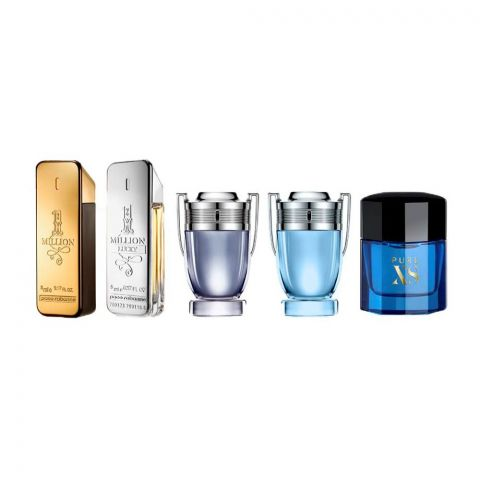 Paco Rabanne Special Travel Edition For Men, Mini Perfume Set, 5-Pack
